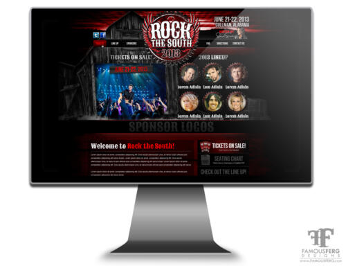 Rock-The-South-Web-Design